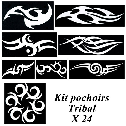 Kit pochoirs tatouages - tribal