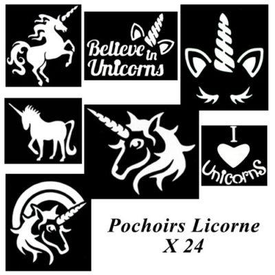 Kit pochoir adhésif licorne
