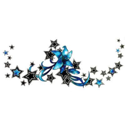 Tatouage éphémère underboob étoiles