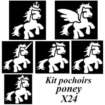 Kit pochoirs poney
