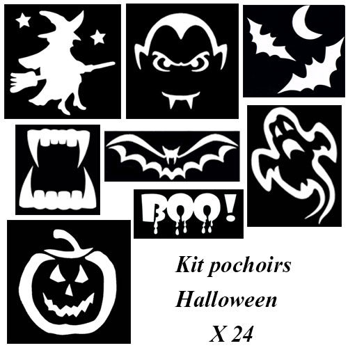 Kit pochoirs Halloween