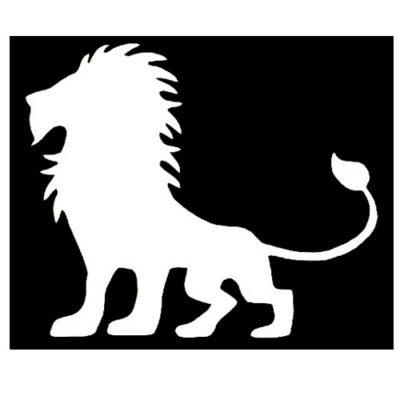 Pochoir adhésif roi des lions pour tatouage temporaire