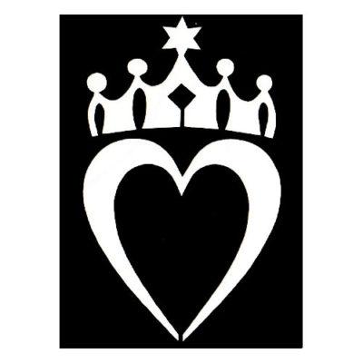 Pochoir adhésif roi de cœur
