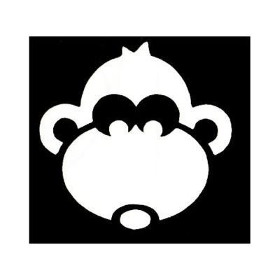 Pochoir adhésif singe