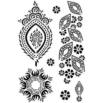 Tatouage éphémère motifs henné noir