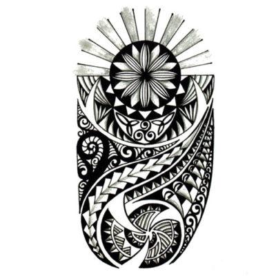 Tatouage Polynésien noir