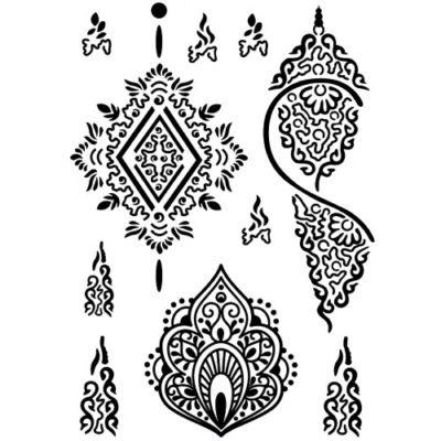 Tatouage temporaire motif henné noir