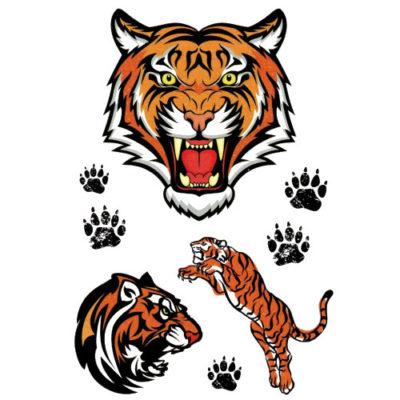 Tatouage temporaire tigre pailleté
