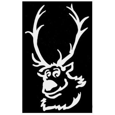 pochoir renne de Noël