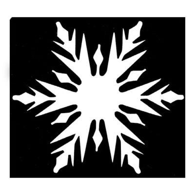 pochoir étoile de Noël