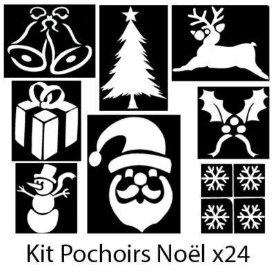 Kit pochoirs adhésifs Noël