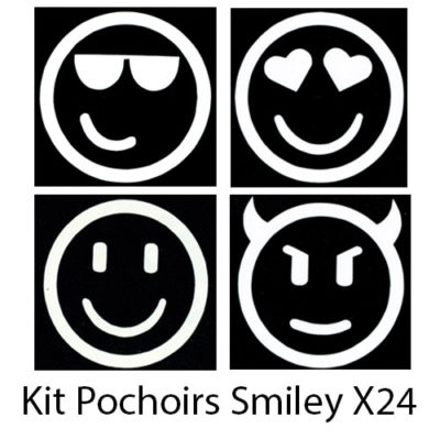 Kit pochoirs smiley
