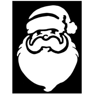 Pochoir adhésif père Noël