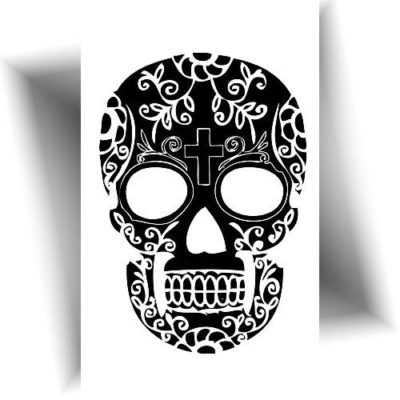 Mini tatouage éphémère crâne