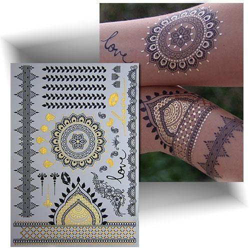 Tatouage métallisé or oriental