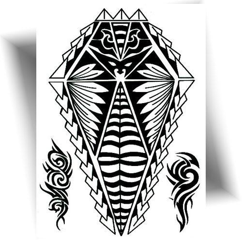 Tatouage-éphémère-Maori-noir