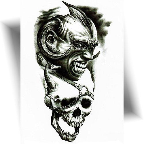 Tatouage éphémère démons