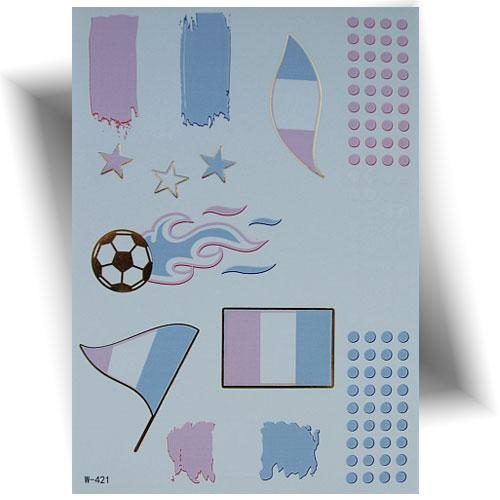Tatouage métallisé drapeau France