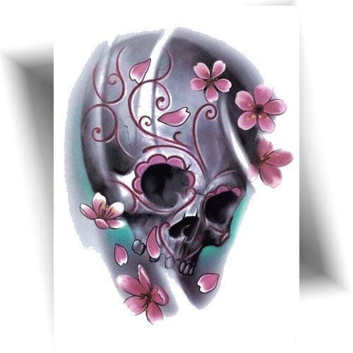 Tatouage éphémère pretty skull