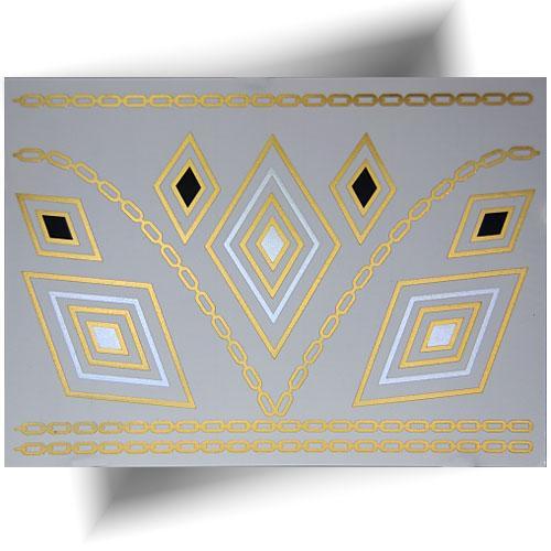 Tatouage métallisé doré bijoux