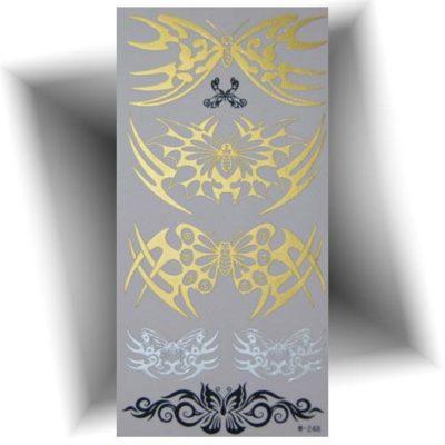 Tatouage métallique tribal doré
