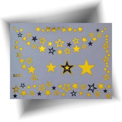 Tatouage métallisé étoiles dorées