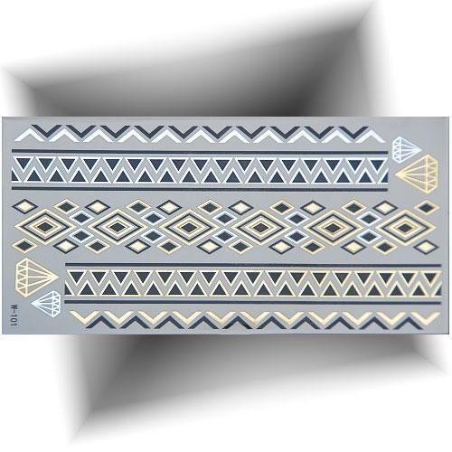 Tatouage métallisé bracelet diamant