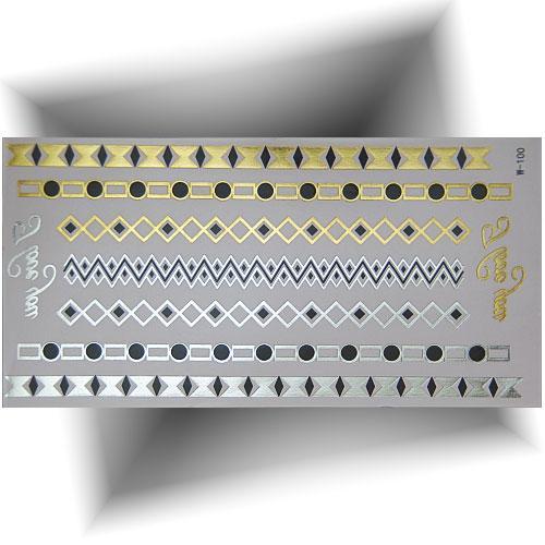 Tatouage métallisé bracelets fins