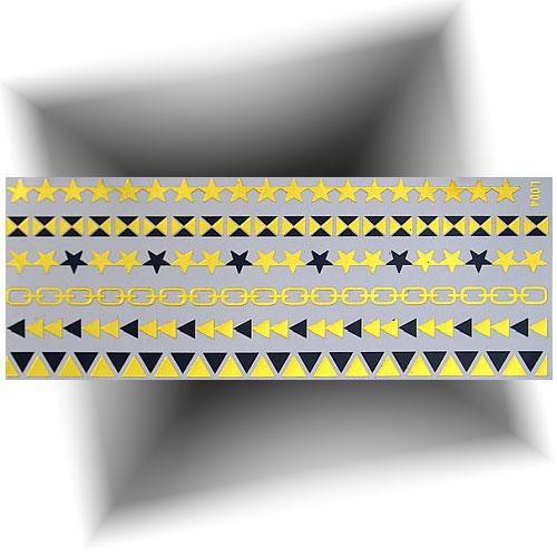 Tatouage métallisé chevillère étoile