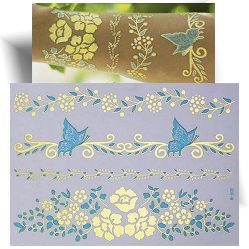 Tatouage métallisé bracelet papillon