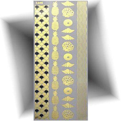 Tatouage métallisé doré plage