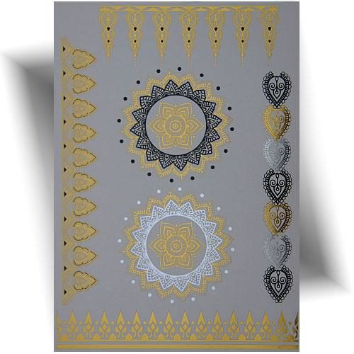Tatouage métallisé motifs orientaux