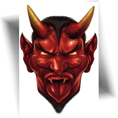 Tatouage éphémère diable