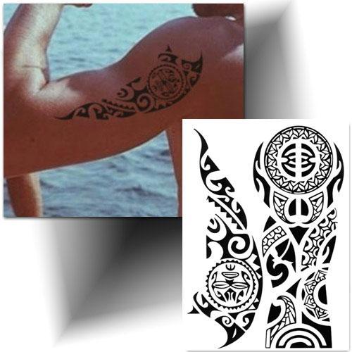 Tatouage temporaire enata Polynésien