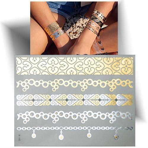Tatouage métallisé bracelets