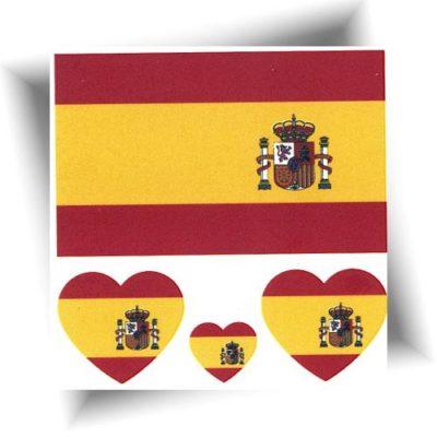 Tatouage temporaire drapeau Espagne