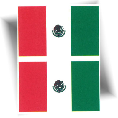 Tatouage temporaire drapeau Mexique