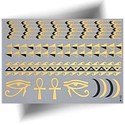 Tatouage temporaire métallisé Égyptien