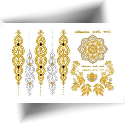 Tatouage éphémère métallisé oriental