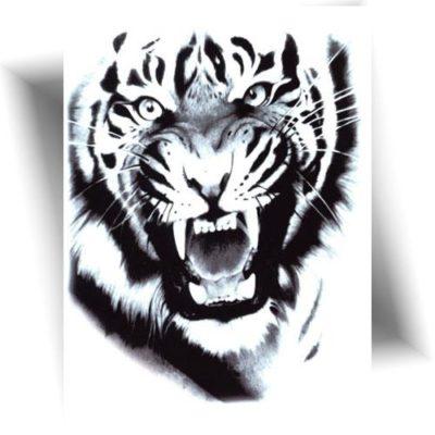 Tatouage temporaire tigre réaliste
