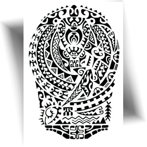 Tatouage temporaire tortue Maori Mikiti