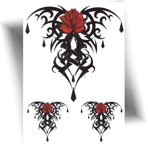 Tatouage-temporaire-tribal-rose