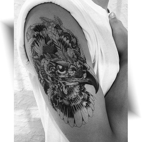 Tatouage temporaire aigle