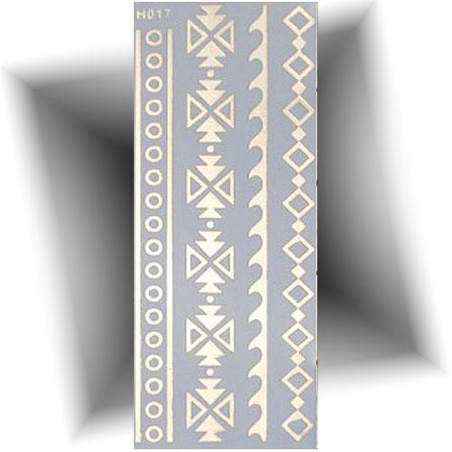 Tatouage métallisé bracelets doré