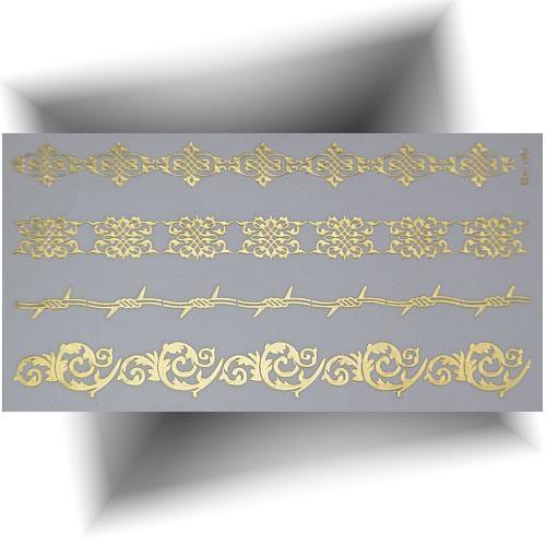 Tatouage métallique 3D bracelets