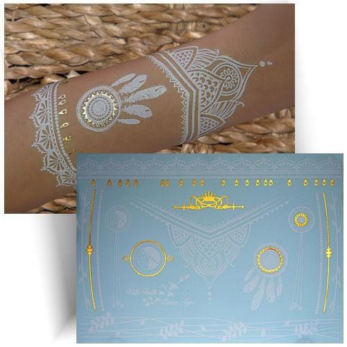 Tatouage métallisé dentelle dreamcatcher