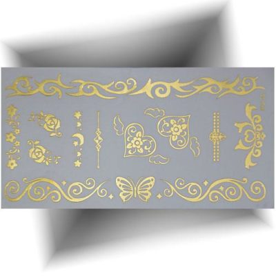 Tatouage métallisé 3D Papillon