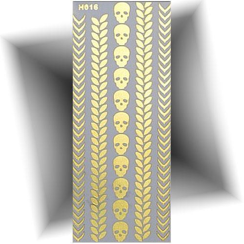 Tatouage métallique bracelet crâne