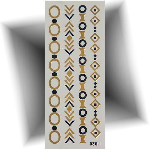 Tatouage métallisé bracelet chic