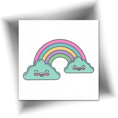 Tatouage temporaire rainbow